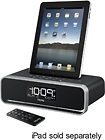 iHome - Dual-Alarm Clock Radio for Apple iPad, iPod and iPhone - Black/Silver