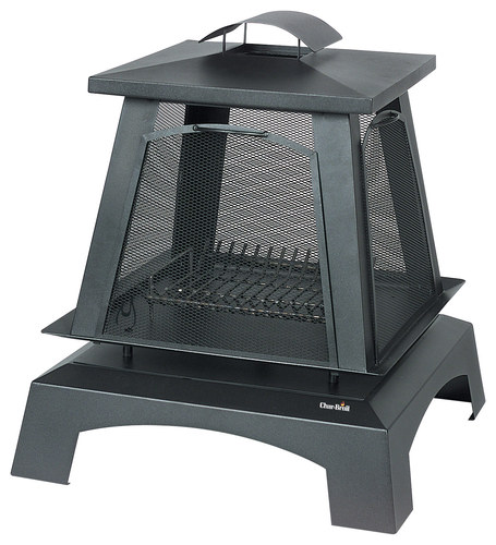 Char-Broil - Trentino Outdoor Fireplace - Black
