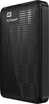 WD - My Passport 1TB External USB 30/20 Portable Hard Drive - Black