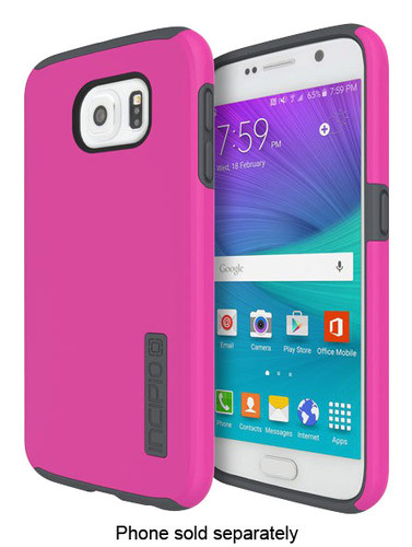 Incipio - DualPro Case for Samsung Galaxy S6 Cell Phones - Pink/Charcoal (Pink/Grey)