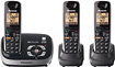 Panasonic - DECT 60 Expandable Cordless Phone System with Digital Answering System - Black, Brown, Gray