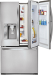 LG - 305 Cu Ft Door In Door French Door Refrigerator with Ice and Water Dispenser - Stainless-Steel