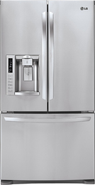 LG LFX28991ST 27.6 Cu. Ft. French Door Refrigerator with Thru-the-Door Ice and Water - Stainless-Steel