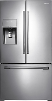 Samsung - 316 Cu Ft French Door Refrigerator with Thru-the-Door Ice and Water - Stainless-steel
