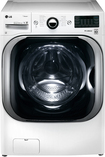 LG - 51 Cu Ft 14-Cycle Mega Capacity High-Efficiency Steam Front-Loading Washer - White