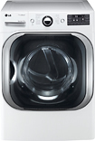 LG - SteamDryer 9.0 Cu. Ft. 14-Cycle Ultra-Large Capacity Steam Electric Dryer - White