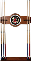 Trademark Games - Miller High Life Girl in the Moon Vintage 8-Cue Wall Rack