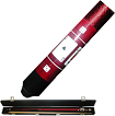 Trademark Games - Red Royal Flush Poker 2-Piece Wood Pool Cue