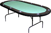 Trademark Games - 10-Player Poker Table - Green/Black