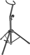 On Stage Baritone Saxophone Stand Black