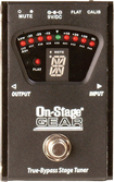 On-Stage - True Bypass Tuner Pedal