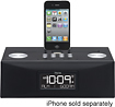 iHome - Dual-Alarm Clock Radio for Apple iPad, iPhone and iPod - Black