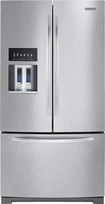 KitchenAid - 286 Cu Ft French Door Refrigerator with Thru-the-Door Ice and Water - Monochromatic Stainless-Steel