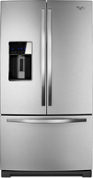 Whirlpool - 286 Cu Ft French Door Refrigerator with Thru-the-Door Ice and Water - Stainless-Steel