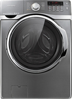Samsung - 40 Cu Ft 15-Cycle High-Efficiency Steam Front-Loading Washer - Platinum