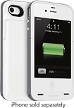 Mophie - Juice Pack Plus Charging Case for Apple iPhone 4 and 4S - White