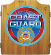 Trademark Global - US Coast Guard Solid Wood Dart Cabinet Set US Coast Guard Dart Cabinet Set