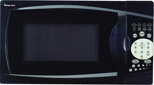Magic Chef - 0.7 Cu. Ft. Compact Microwave - Black
