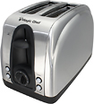 Magic Chef - 2-Slice Wide-Slot Toaster - Stainless-Steel