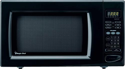 Magic Chef - 1.6 Cu. Ft. Full-Size Microwave - Black