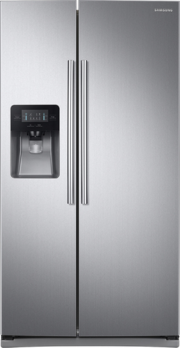 Samsung - 24.5 Cu. Ft. Side-by-Side Refrigerator with Thru-the-Door Ice and Water - Stainless Steel (Silver)