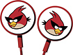 Gear4 - Angry Birds Space Tweeters Earbud Headphones - Red