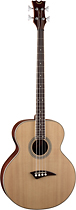 Dean - 4-String Full-Size Acoustic/Electric Bass Guitar - Natural