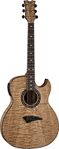 Dean - Exotica 6-String Full-Size Acoustic/Electric Guitar - Natural