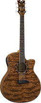Dean - Exotica 6-String Full-Size Cutaway Acoustic/Electric Guitar - Natural
