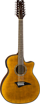 Dean - Exotica 12-String Full-Size Acoustic/Electric Guitar - Faded tiger eye