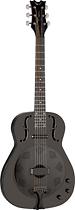 Dean - Resonator 6-String Full-Size Iron-Body Acoustic/Electric Guitar - Black Chrome