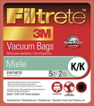3M - Filtrete K Vacuum Bag for Select Miele Upright Vacuums