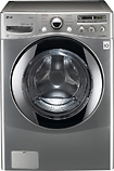 LG - 36 Cu Ft 9-Cycle High-Efficiency Steam Front-Loading Washer - Graphite Steel