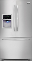 Frigidaire - Gallery 226 Cu Ft French Door Refrigerator with Thru-the-Door Ice and Water - Stainless-Steel