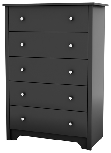 South Shore - Vito Collection 5-Drawer Chest - Black