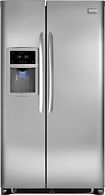 Frigidaire - Gallery 226 Side-by-Side Refrigerator with Thru-the-Door Ice and Water - Stainless-steel