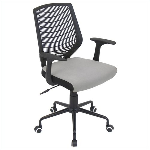 Lumisource - Lumisource Network Office Chair in Black and Silver - Black