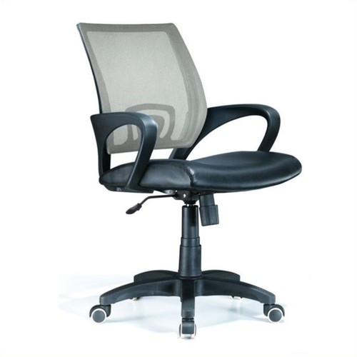 Lumisource - Lumisource Officer Office Chair in Silver - Black
