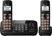 Panasonic - DECT 6.0 Plus Expandable Cordless Phone System with Digital Answering System