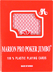 Trademark Games - Marion Pro Poker Plastic Poker-Size Playing Cards - Red