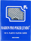 Trademark Games - Marion Pro Poker Plastic Poker-Size Playing Cards - Blue