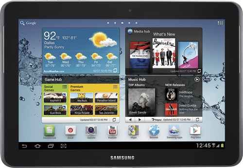 Samsung - Galaxy Tab 2 10.1 with 16GB Memory - Titanium Silver