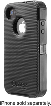 OtterBox - Defender Series Case for Apple iPhone 4 and 4S - Black
