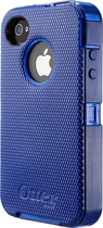 OtterBox - Defender Series Case for Apple iPhone 4 and 4S - Blue