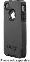 OtterBox - Commuter Series Case for Apple iPhone 4 and 4S - Black