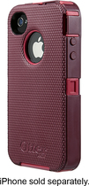OtterBox - Defender Series Case for Apple iPhone 4 and 4S - Pink/Plum