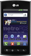 MetroPCS - LG Optimus M+ No-Contract Cell Phone - Black