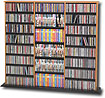 Triple-Width Library-Style Media Shelf - Oak - OMA-0960