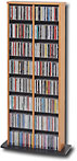 Double-Tower Multimedia Storage Rack - Oak - OMA-0320