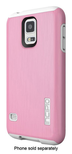 Incipio - DualPro Shine Case for Samsung Galaxy S 5 Cell Phones - White/Pink